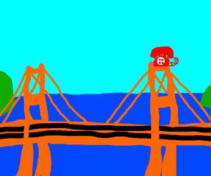 a telephone on the golden gate bridge