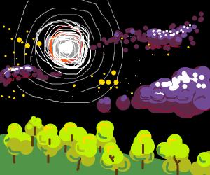 supernova in forest
