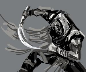 Ninja with blade