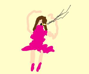 Smoking ballerina