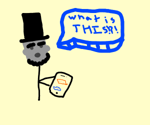 Abraham lincoln is facinated by texting