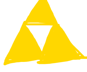 Triforce but someone didn't learn gd triggers
