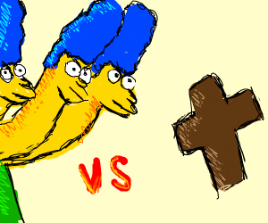 Marge Simpson hydra vs the power of Christ