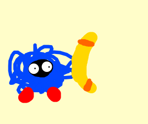Tangela with a boomerang