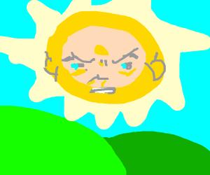 teletubbie  sun is PISSED