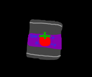 A can of tomato soup