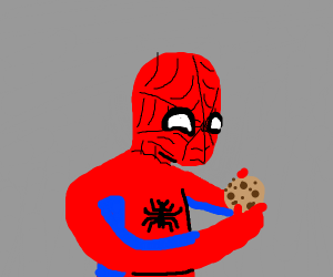 Spider-Man steals cookies
