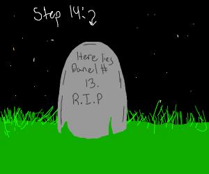 step 13 die