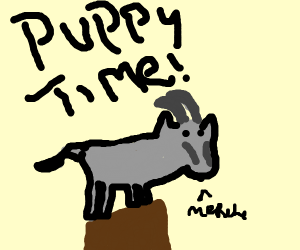 it's puppy time lads! [ secretly goats tho]