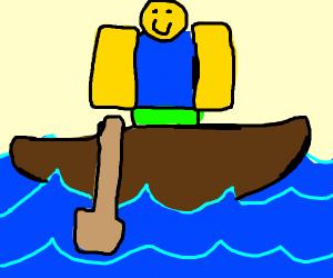 Robolx noob on a boat