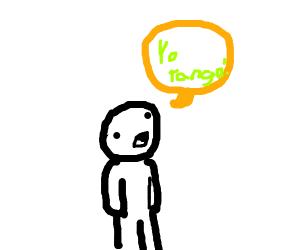 kid yells ''yo tengo!''