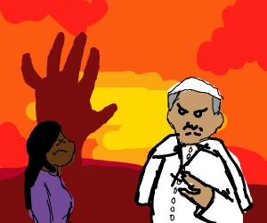 Hell pope kills girl