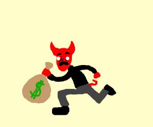 Demon stealing money