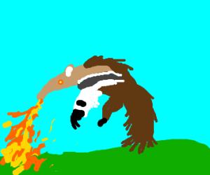 Anteater spewing fire (Heatmor probs)