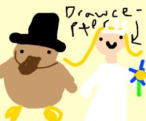 Drawcepter marries a platypus