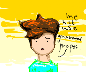 a person cant grammar properly