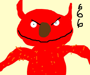 Demonic Elmo (me)