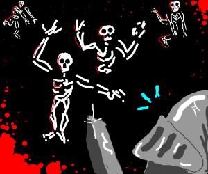 knight vs skeleton army