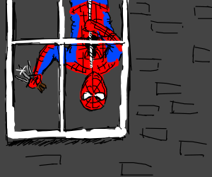 spiderman holding daggers in his hand