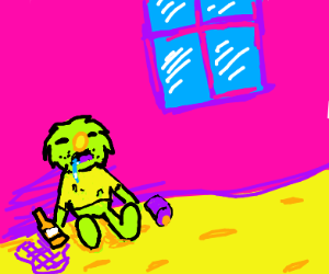 The beggar of Sesame Street