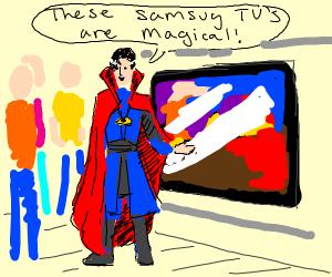 Doctor strange advertising samsung tv's