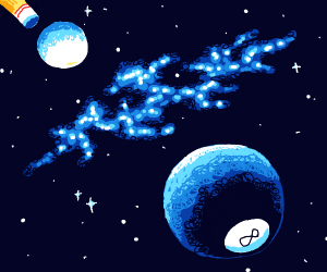 billiard ball but it's space