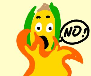 Corn in a Fire
