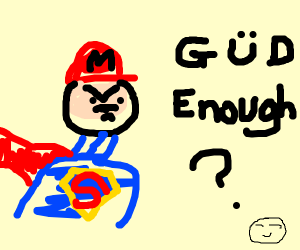 Mario is evil superman