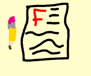 You got an F!