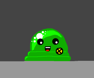 Green blob is happy to be a new x man