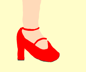 An elegant foot in High Heel Shoe