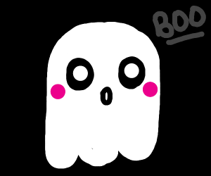 ADORABLE ghost saying BOO