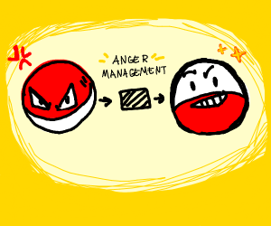 A Pokeball with anger management issues