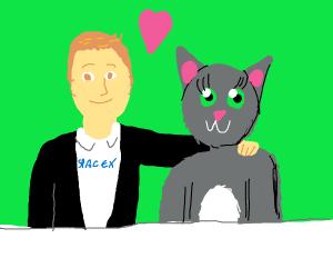 Elon musk made a furry girlfriend