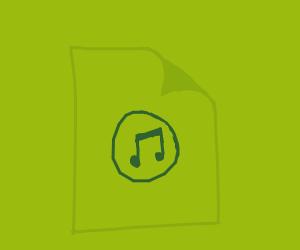 Green mp3 file