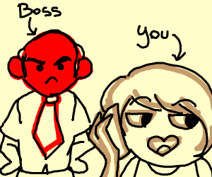 Angry boss spots you using your phone