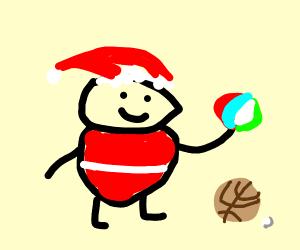 Santa has balls