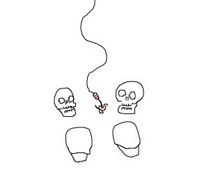 Fishing for skulls