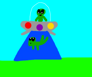 Alien abducting another alien