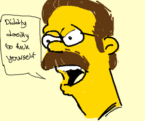 Ned Flanders (Simpsons) angry shouting