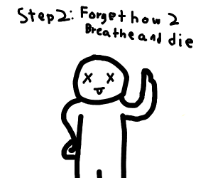 Breathing guide but you die on step 2