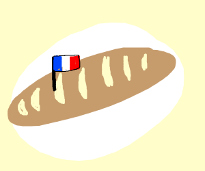 baguette on a plate
