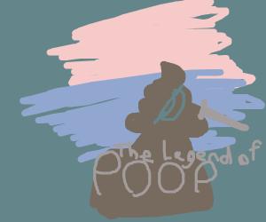 The legend of zelda (poop version)