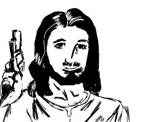 Jesus has a gun