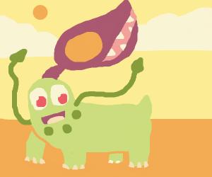 Chikorita & Mawile hybrid Pokémon