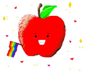 the apple is gay
