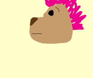 Lion with pink mane