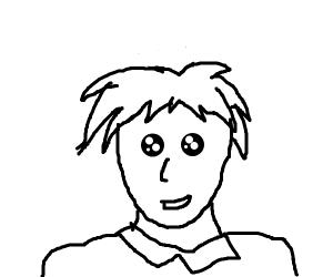 Bug eyed anime boy
