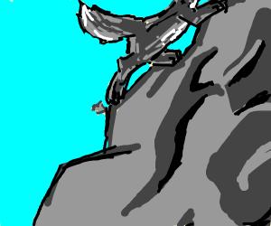Mountain-Climbing Wolf