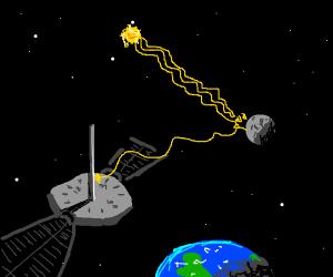 Moon clock satellite